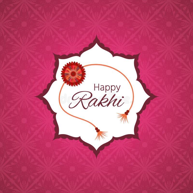 Ευχετήρια κάρτα με διακοσμητικό Rakhi για Raksha Bandhan, ινδικό φ ελεύθερη απεικόνιση δικαιώματος