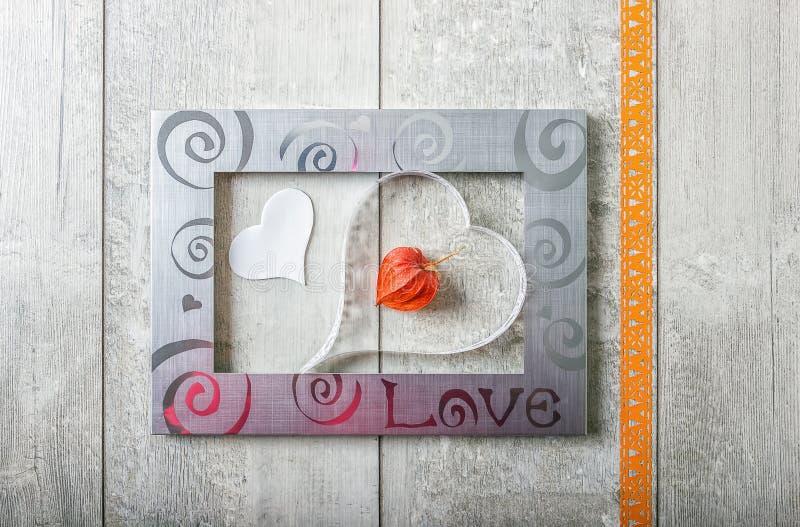Ευχετήρια κάρτα με την αγάπη στοκ φωτογραφία με δικαίωμα ελεύθερης χρήσης