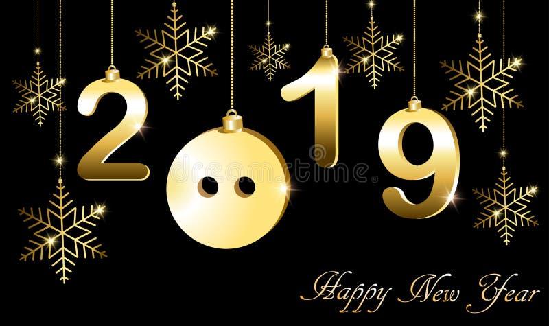 Ευχετήρια κάρτα με το νέο έτος, το έτος του χοίρου διανυσματική απεικόνιση