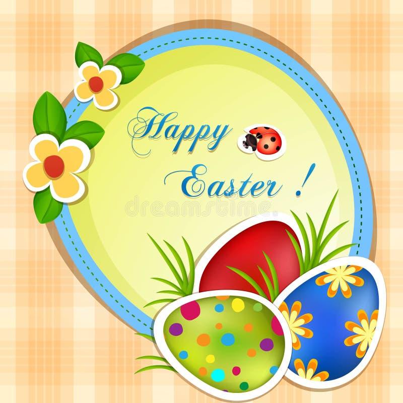 Ευχετήρια κάρτα Πάσχας απεικόνιση αποθεμάτων