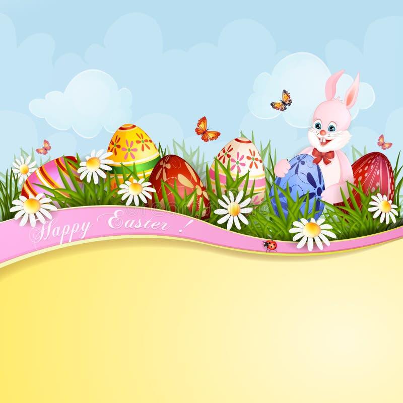 Ευχετήρια κάρτα Πάσχας ελεύθερη απεικόνιση δικαιώματος