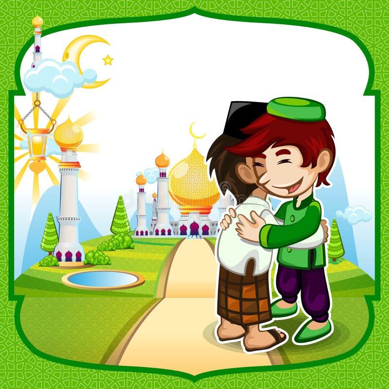 Ευχετήρια κάρτα του Μουμπάρακ Eid διανυσματική απεικόνιση
