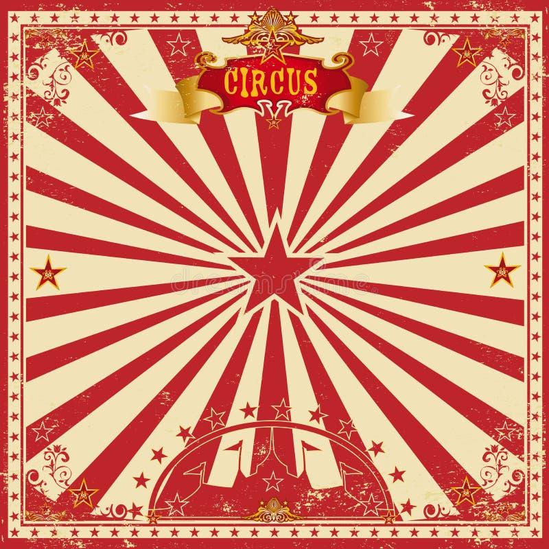 Ευχετήρια κάρτα τσίρκων grunge στοκ φωτογραφίες