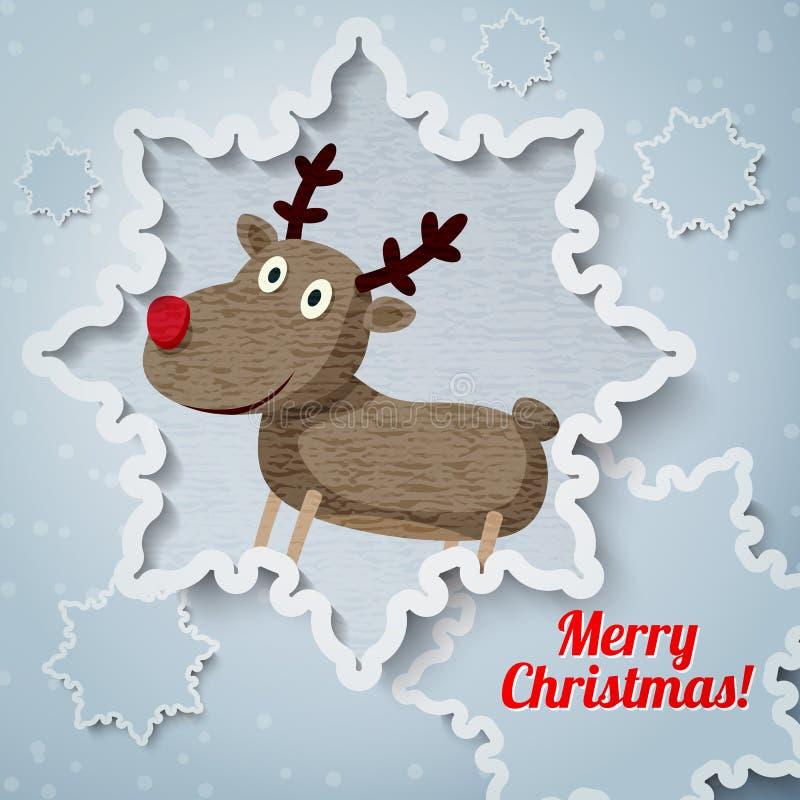 Ευχετήρια κάρτα Χαρούμενα Χριστούγεννας με τη θέση για το σας ελεύθερη απεικόνιση δικαιώματος
