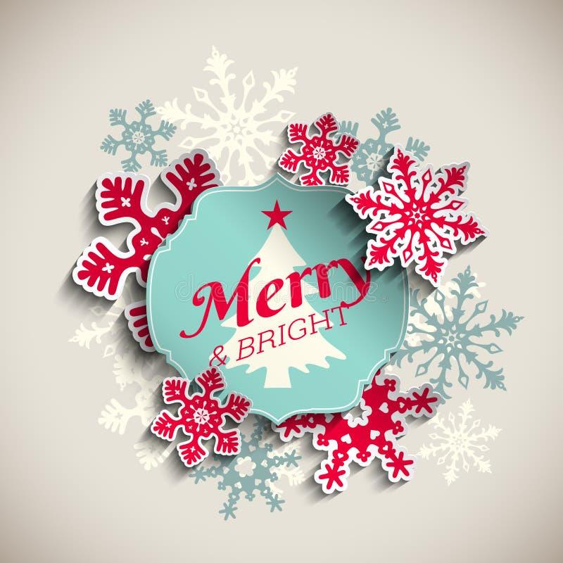 Ευχετήρια κάρτα Χριστουγέννων, κείμενο εύθυμο και φωτεινό ελεύθερη απεικόνιση δικαιώματος