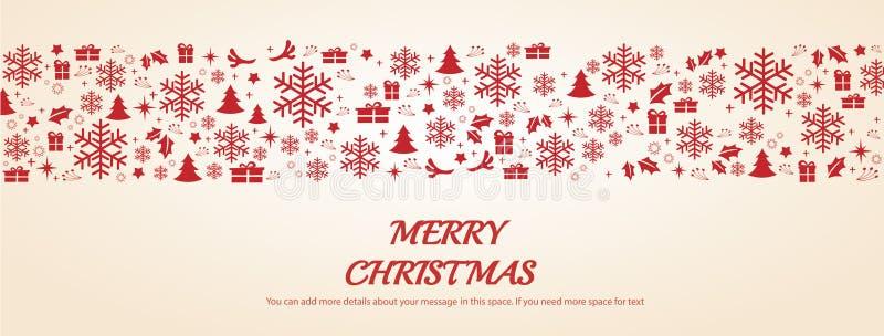Ευχετήρια κάρτα Χριστουγέννων με τη διαστημική διανυσματική απεικόνιση υποβάθρου σχεδίων ελεύθερη απεικόνιση δικαιώματος