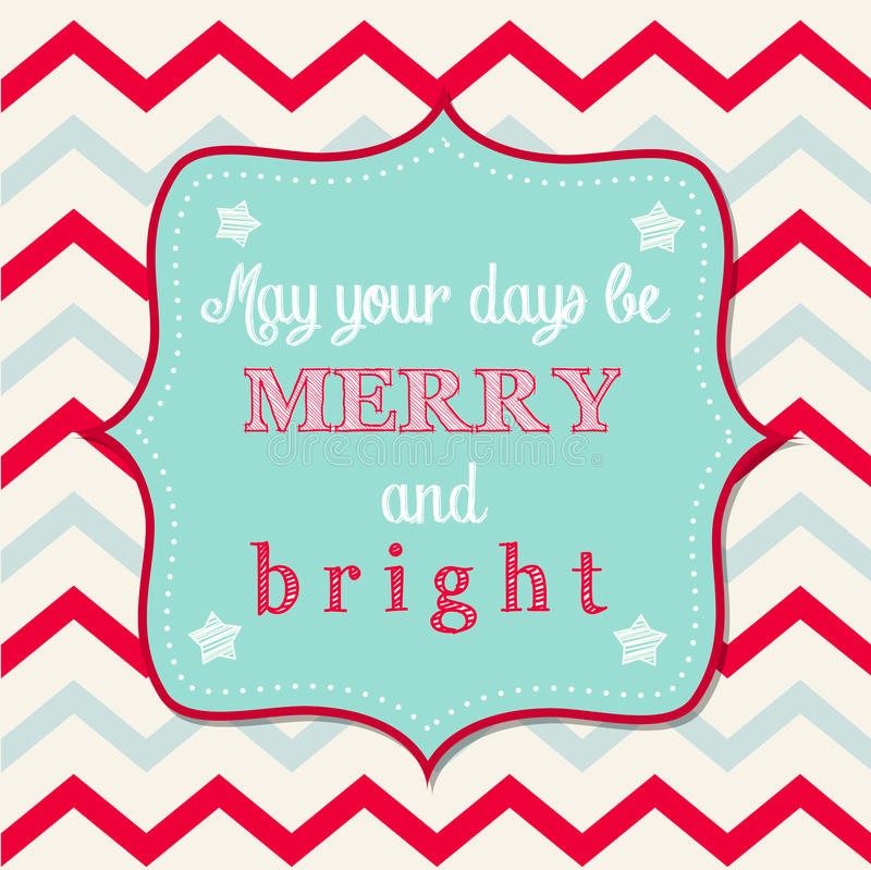 Ευχετήρια κάρτα Χριστουγέννων με το κείμενο απεικόνιση αποθεμάτων