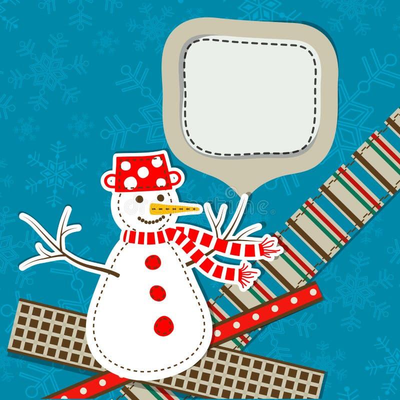 Ευχετήρια κάρτα Χριστουγέννων προτύπων, διάνυσμα διανυσματική απεικόνιση