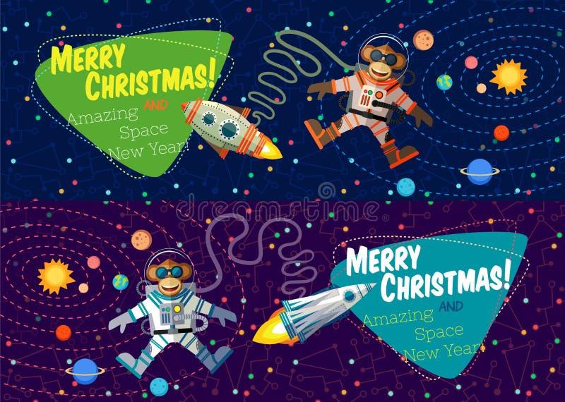 Ευχετήρια κάρτα Χριστουγέννων: Χαρούμενα Χριστούγεννα και νέο έτος ελεύθερη απεικόνιση δικαιώματος