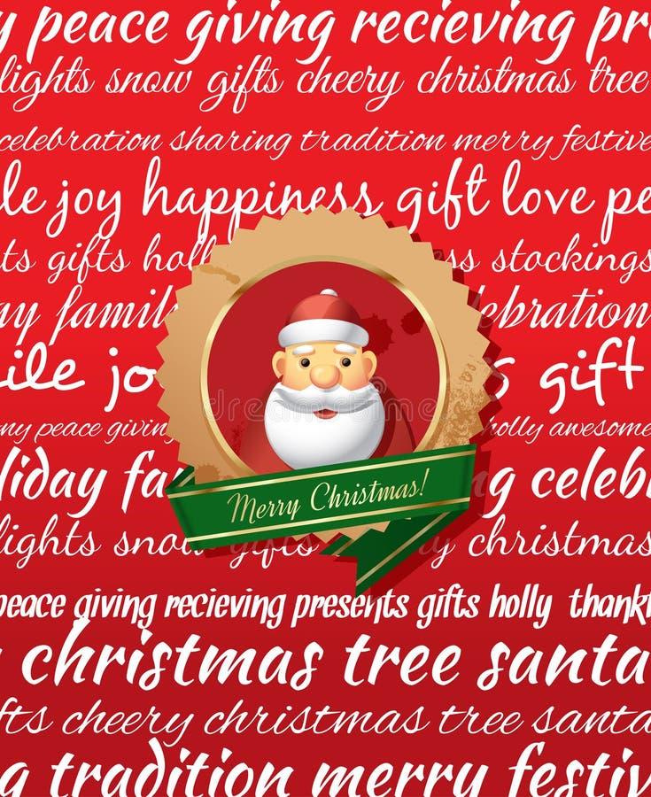 Ευχετήρια κάρτα Χριστουγέννων. απεικόνιση αποθεμάτων