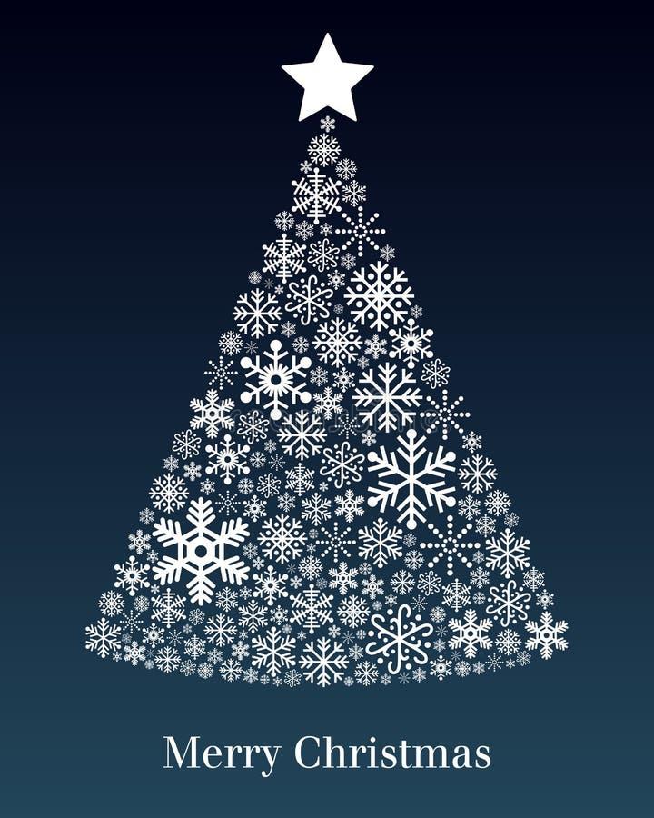 Ευχετήρια κάρτα χριστουγεννιάτικων δέντρων διανυσματική απεικόνιση