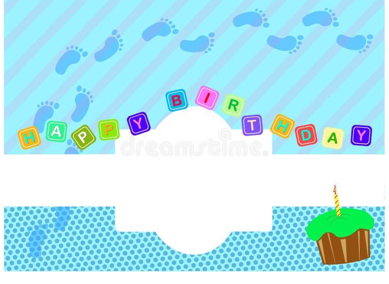 Ευχετήρια κάρτα διανυσματική απεικόνιση