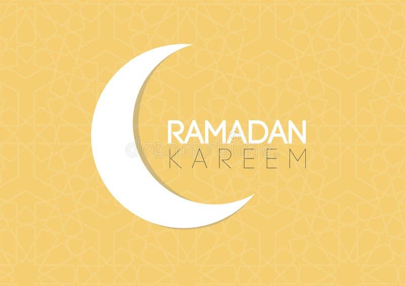 Ευχετήρια κάρτα Ramadan: Διάνυσμα του Kareem EPS Ramadan ελεύθερη απεικόνιση δικαιώματος