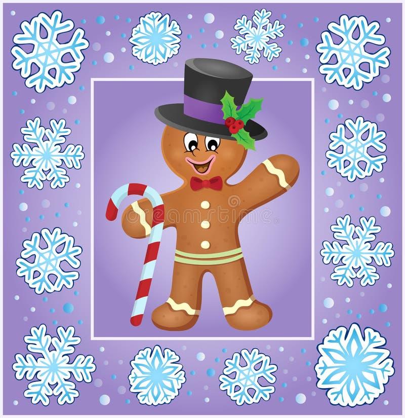 Ευχετήρια κάρτα 6 thematics Χριστουγέννων διανυσματική απεικόνιση