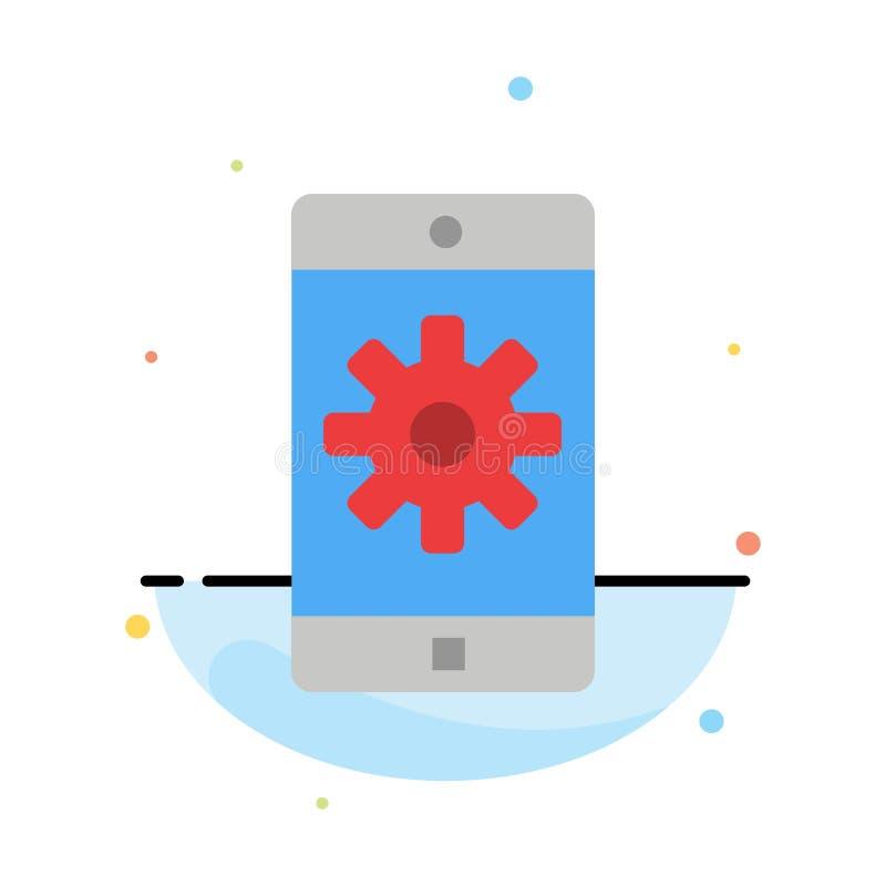 Εφαρμογή, κινητή, κινητή εφαρμογή, πρότυπο εικονιδίων χρώματος ρύθμισης αφηρημένο επίπεδο απεικόνιση αποθεμάτων