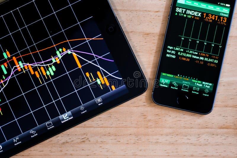Εφαρμογή χρηματιστηρίου στοκ εικόνες