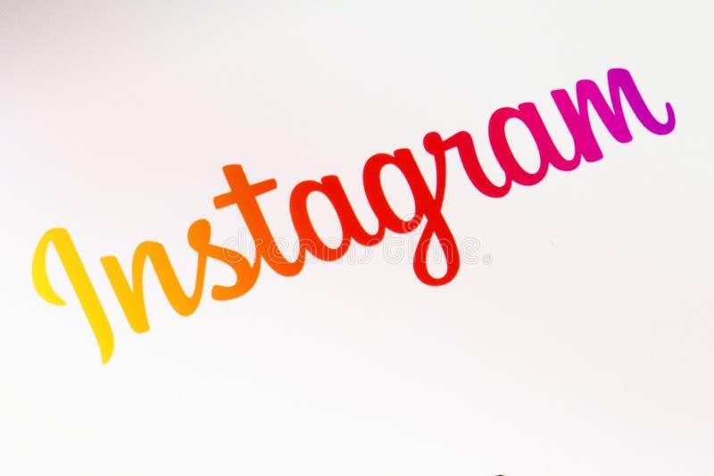 Εφαρμογή Instagram στο smartphone στοκ φωτογραφίες