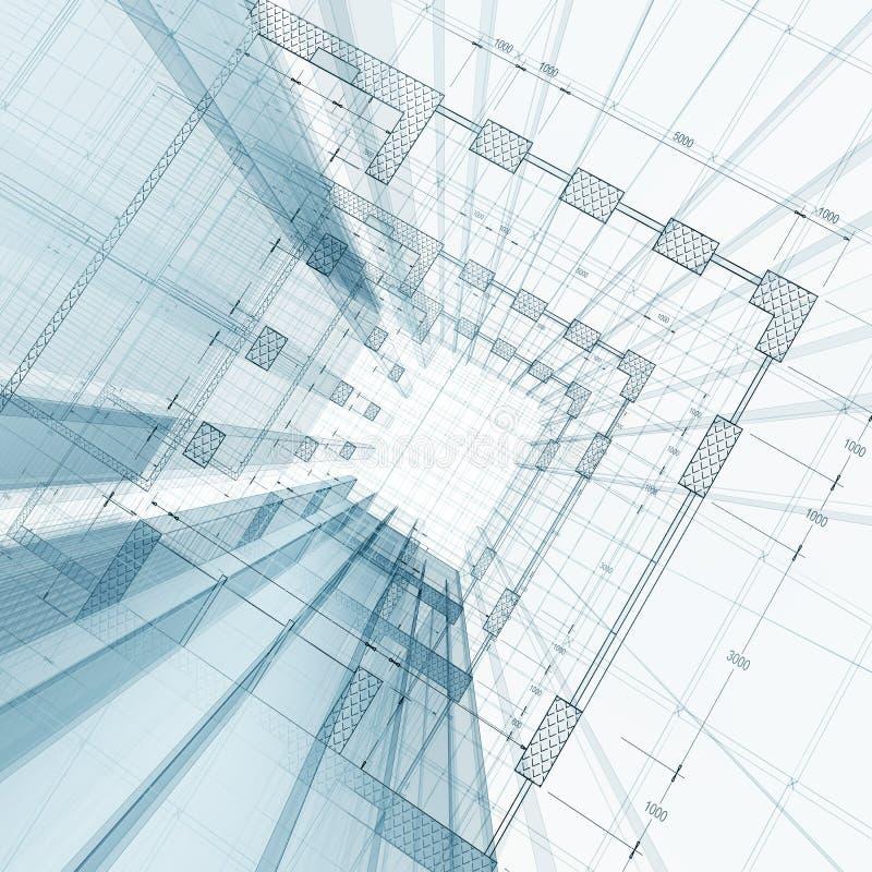 Εφαρμοσμένη μηχανική αρχιτεκτονικής διανυσματική απεικόνιση