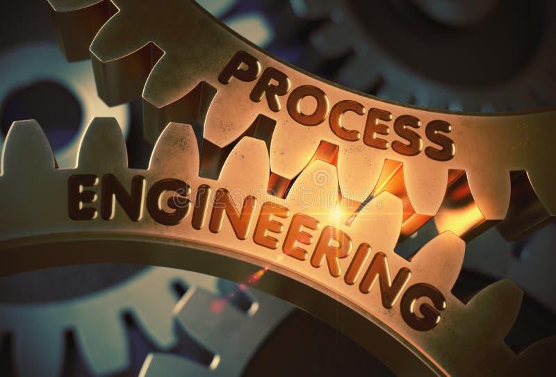 Εφαρμοσμένη μηχανική διαδικασίας τρισδιάστατος διανυσματική απεικόνιση