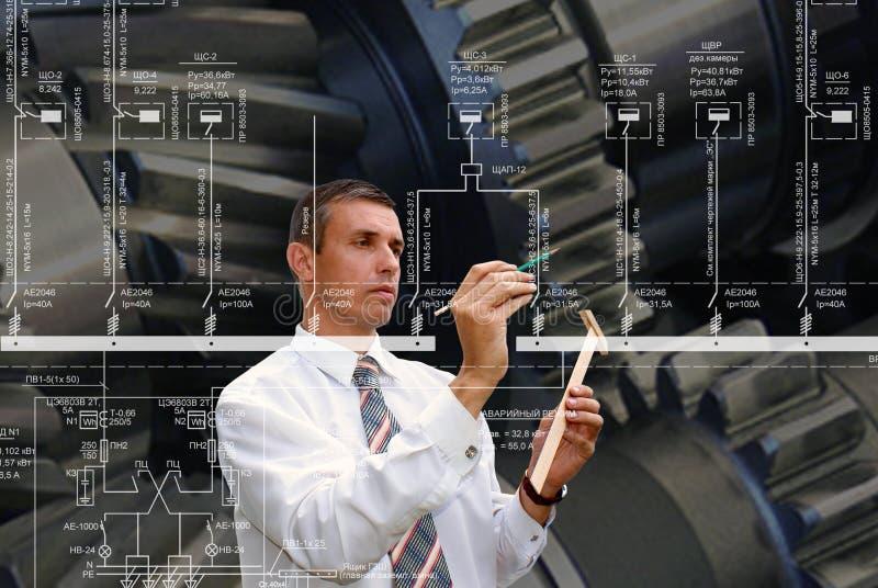 Εφαρμοσμένη μηχανική που σχεδιάζει στη βιομηχανία στοκ εικόνες