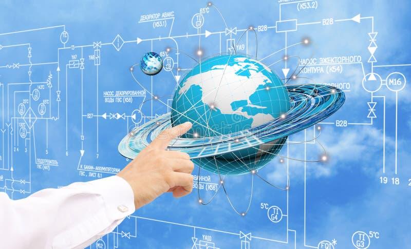 Εφαρμοσμένη μηχανική που σχεδιάζει το tecnology σύνδεσης στοκ εικόνα
