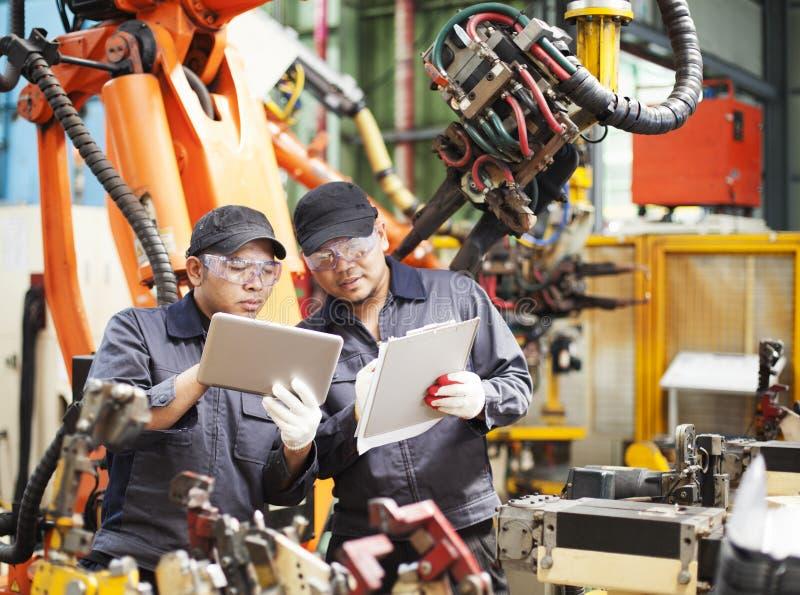 Εφαρμοσμένη μηχανική στο εργοστάσιο στοκ εικόνες με δικαίωμα ελεύθερης χρήσης