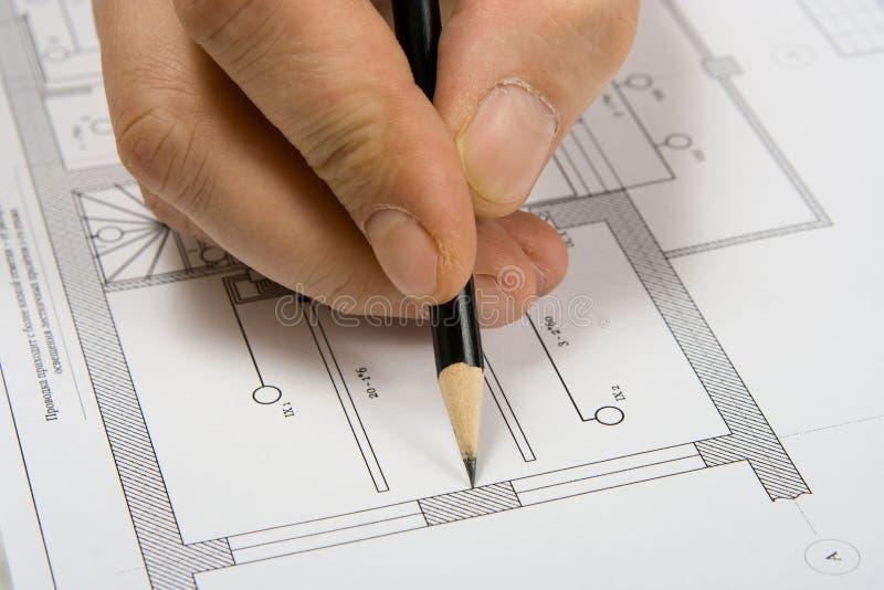 εφαρμοσμένη μηχανική σχεδί στοκ φωτογραφία