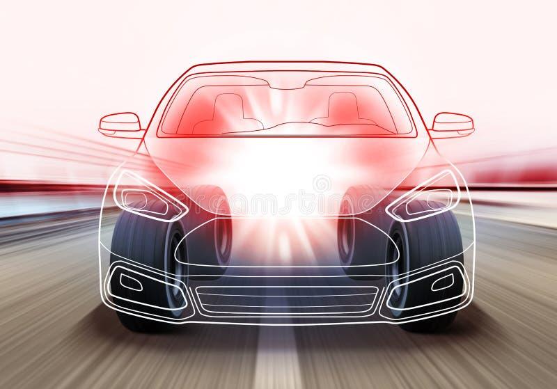 Εφαρμοσμένη μηχανική του αυτοκινήτου απεικόνιση αποθεμάτων