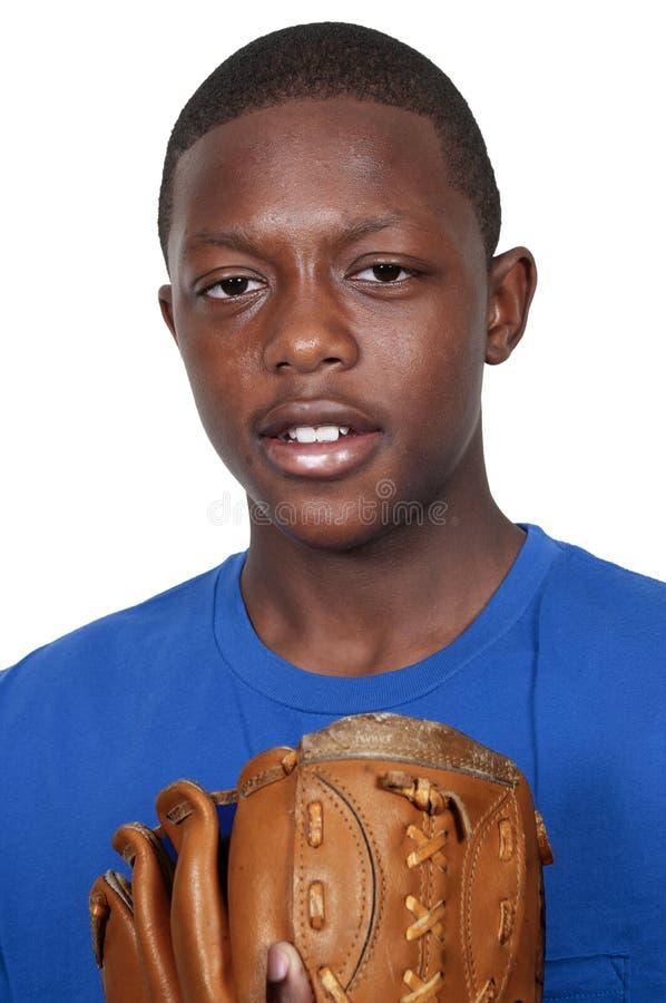 Εφηβικός παίχτης του μπέιζμπολ στοκ εικόνες
