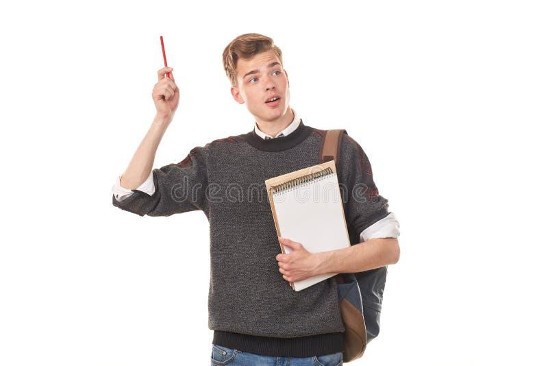 Εφηβικό αγόρι κολλεγίων στοκ φωτογραφία
