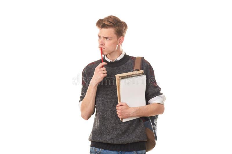 Εφηβικό αγόρι κολλεγίων στοκ εικόνες