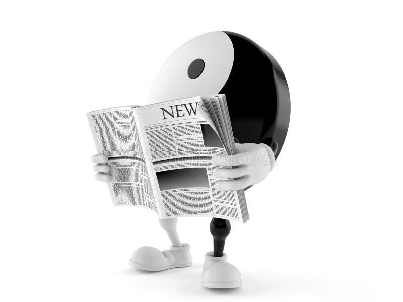 Εφημερίδα ανάγνωσης χαρακτήρα Jang Jing απεικόνιση αποθεμάτων