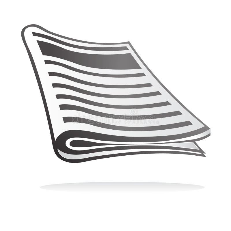 εφημερίδα εικονιδίων ελεύθερη απεικόνιση δικαιώματος