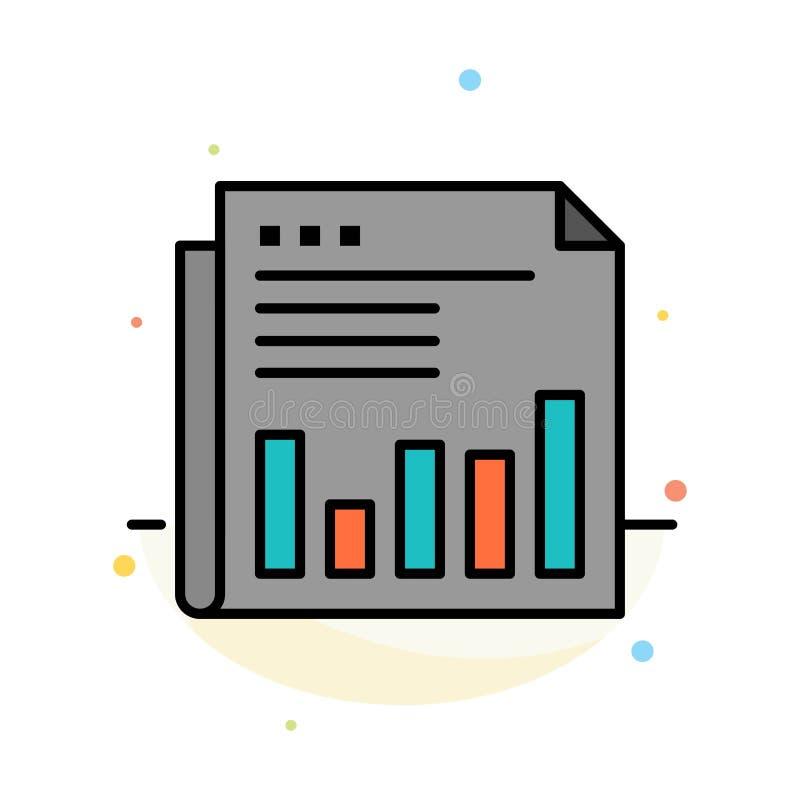 Εφημερίδα, επιχείρηση, οικονομική, αγορά, ειδήσεις, έγγραφο, πρότυπο εικονιδίων χρονικού αφηρημένο επίπεδο χρώματος διανυσματική απεικόνιση