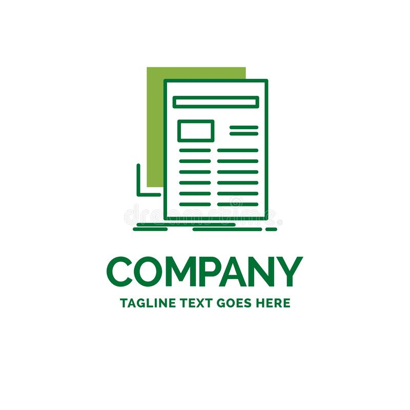 Εφημερίδα, μέσα, ειδήσεις, ενημερωτικό δελτίο, επίπεδο επιχειρησιακό λογότυπο τ εφημερίδων απεικόνιση αποθεμάτων