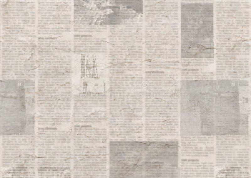 Εφημερίδα με το παλαιό υπόβαθρο σύστασης εγγράφου grunge εκλεκτής ποιότητας δυσανάγνωστο στοκ φωτογραφία με δικαίωμα ελεύθερης χρήσης