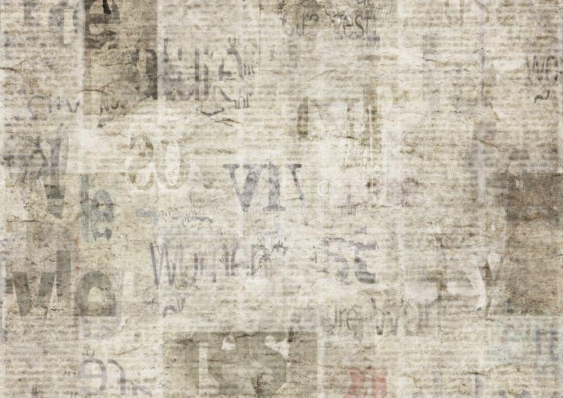 Εφημερίδα με το παλαιό υπόβαθρο σύστασης εγγράφου grunge εκλεκτής ποιότητας δυσανάγνωστο στοκ φωτογραφίες με δικαίωμα ελεύθερης χρήσης