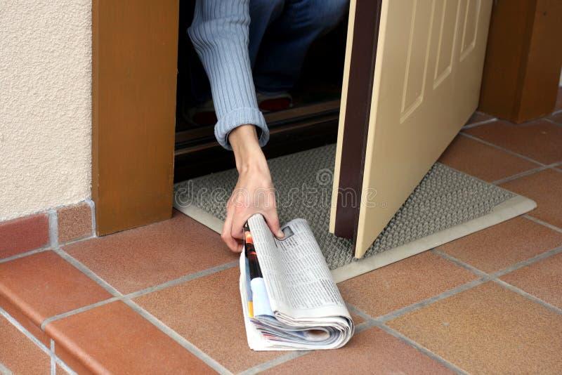 εφημερίδα πρωινού στοκ φωτογραφία με δικαίωμα ελεύθερης χρήσης