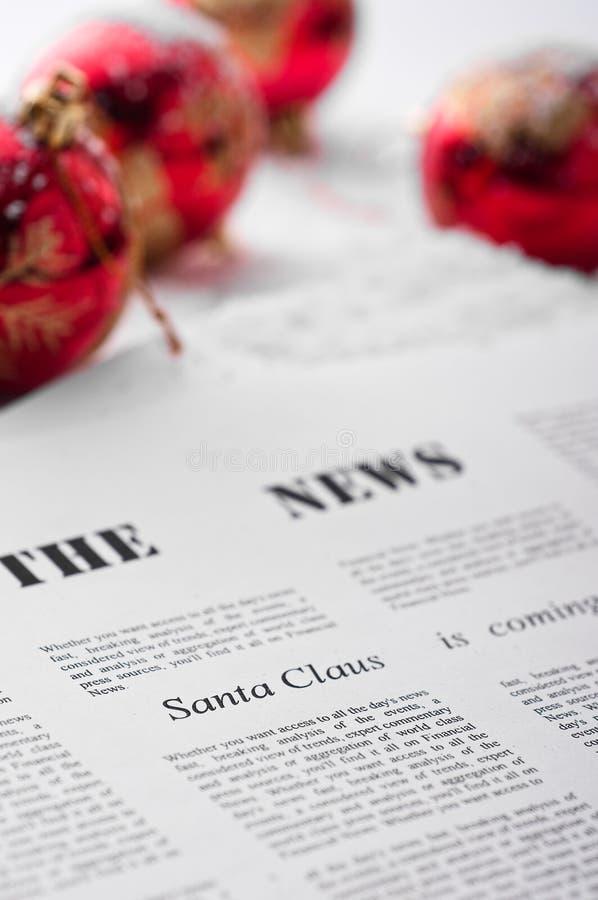 Download εφημερίδα Χριστουγέννων στοκ εικόνα. εικόνα από γιορτάστε - 17052553