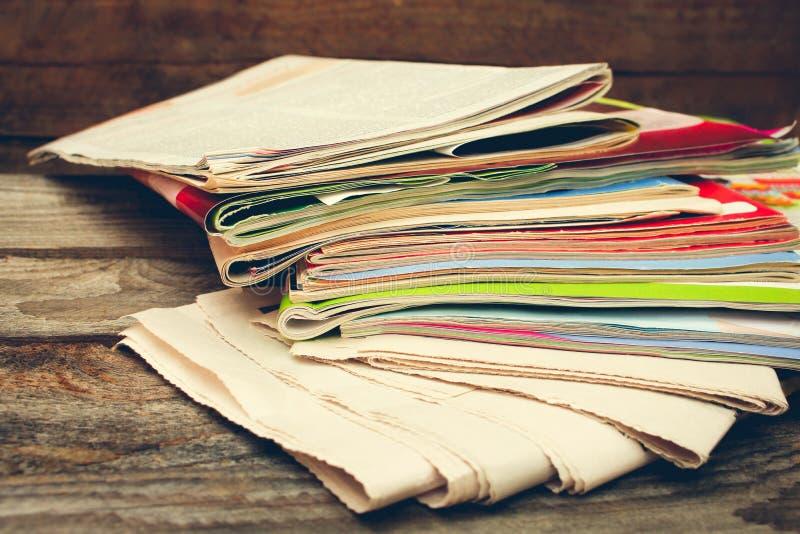 Εφημερίδες και περιοδικά στοκ φωτογραφία