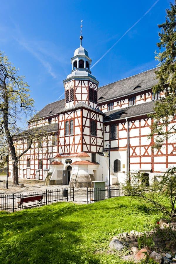 εφοδιασμένη με ξύλα εκκλησία Jawor, Σιλεσία, Πολωνία στοκ εικόνες