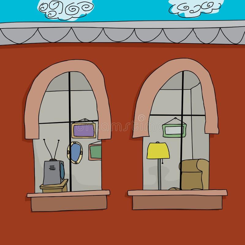 Εφοδιασμένο διαμέρισμα απεικόνιση αποθεμάτων