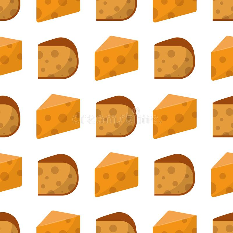 Εύγευστα γαλακτοκομικά τρόφιμα σχεδίων φρέσκων τυριών άνευ ραφής και camembert γάλακτος διανυσματική απεικόνιση γεύματος γκούντα  ελεύθερη απεικόνιση δικαιώματος