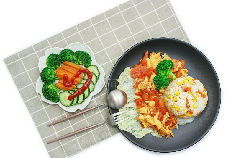 Εύγευστα θρεπτικά κινεζικά ανακατωμένα τρόφιμο-ντομάτα αυγά στοκ εικόνα με δικαίωμα ελεύθερης χρήσης