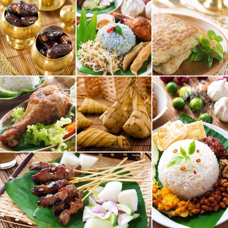 Εύγευστα ramadan τρόφιμα κολάζ στοκ φωτογραφία με δικαίωμα ελεύθερης χρήσης