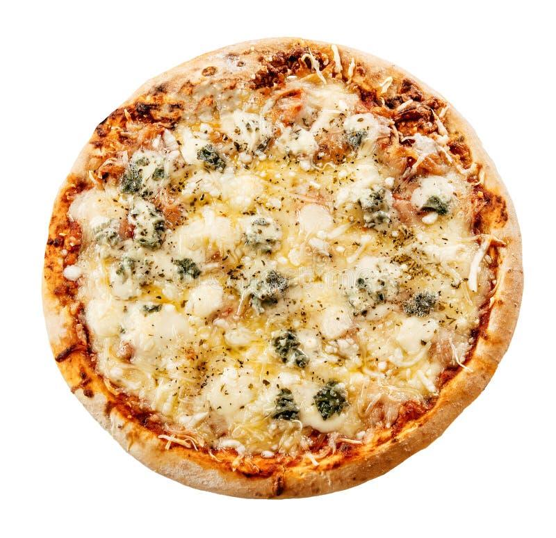 Εύγευστη ιταλική πίτσα τεσσάρων τυριών στοκ φωτογραφία με δικαίωμα ελεύθερης χρήσης