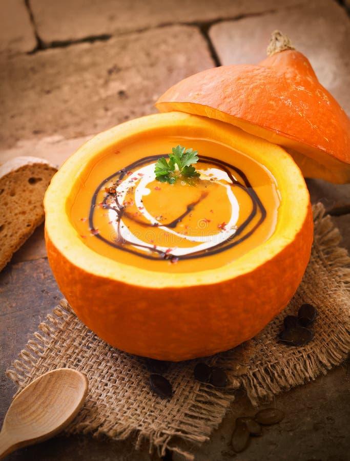 Εύγευστη κολοκύθα ή butternut σούπα στοκ φωτογραφία