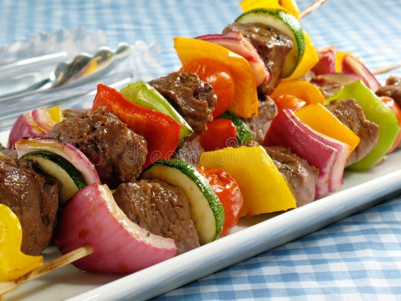 εύγευστη μπριζόλα kebabs στοκ εικόνες