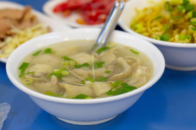 Εύγευστη σούπα λουκάνικων ï ¼ Œpork, ταϊβανική σούπα στοκ εικόνα