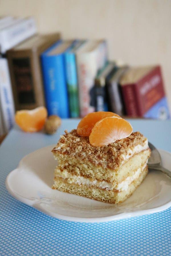 Εύγευστη σπιτική κηρήθρα με tangerine στοκ φωτογραφίες με δικαίωμα ελεύθερης χρήσης